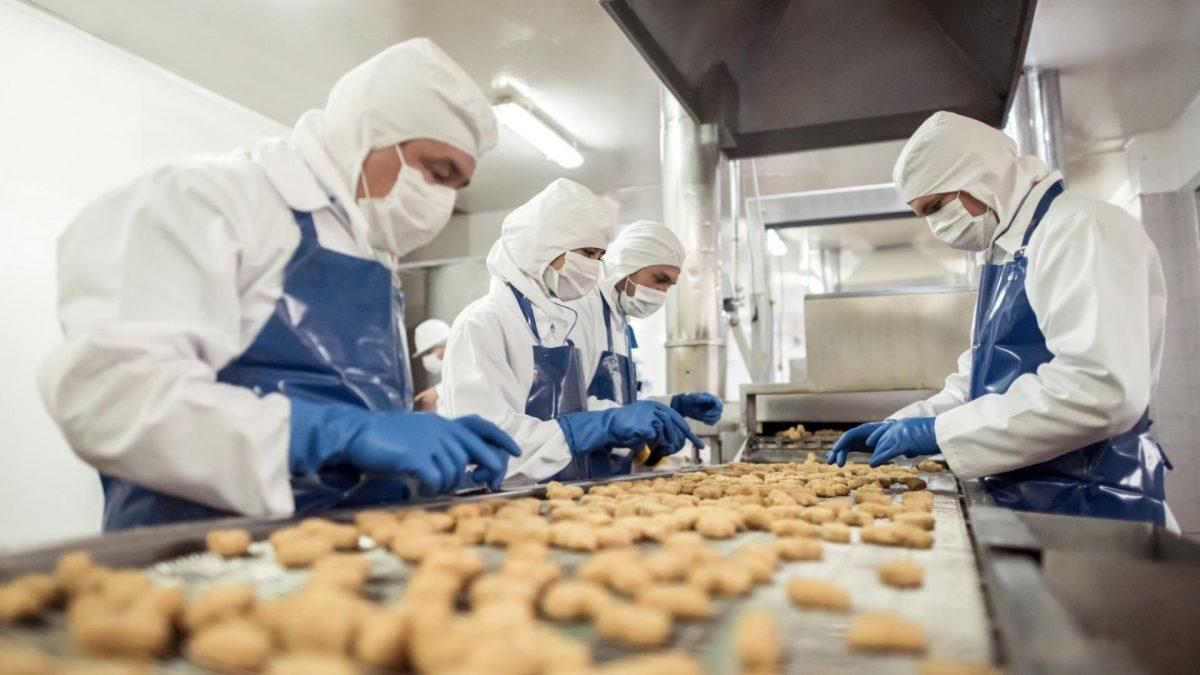 Lebensmittelproduktion im Coronavirus