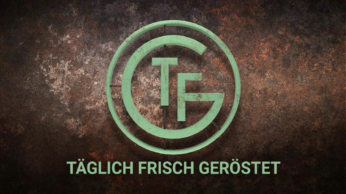 Logo, Täglich Frisch geröstet