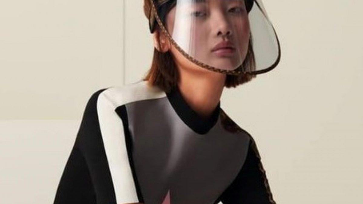 Louis Vuitton Corona Visier Gesichtsschutz