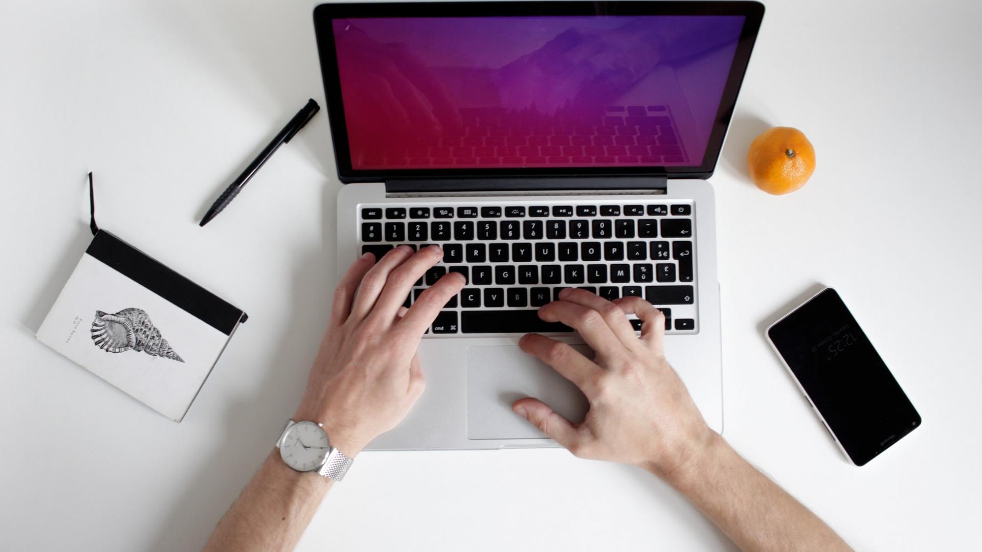 MacBook Arbeiten