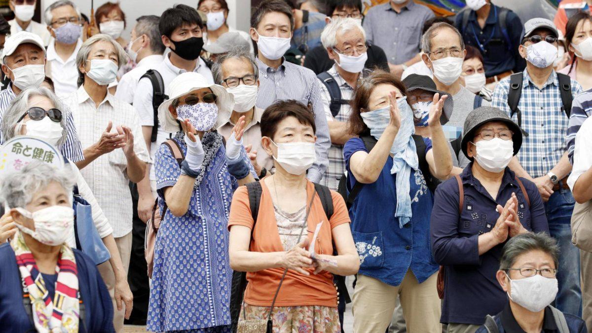 Masken, Menschen, Japan, Japaner, Wahlen, Corona.