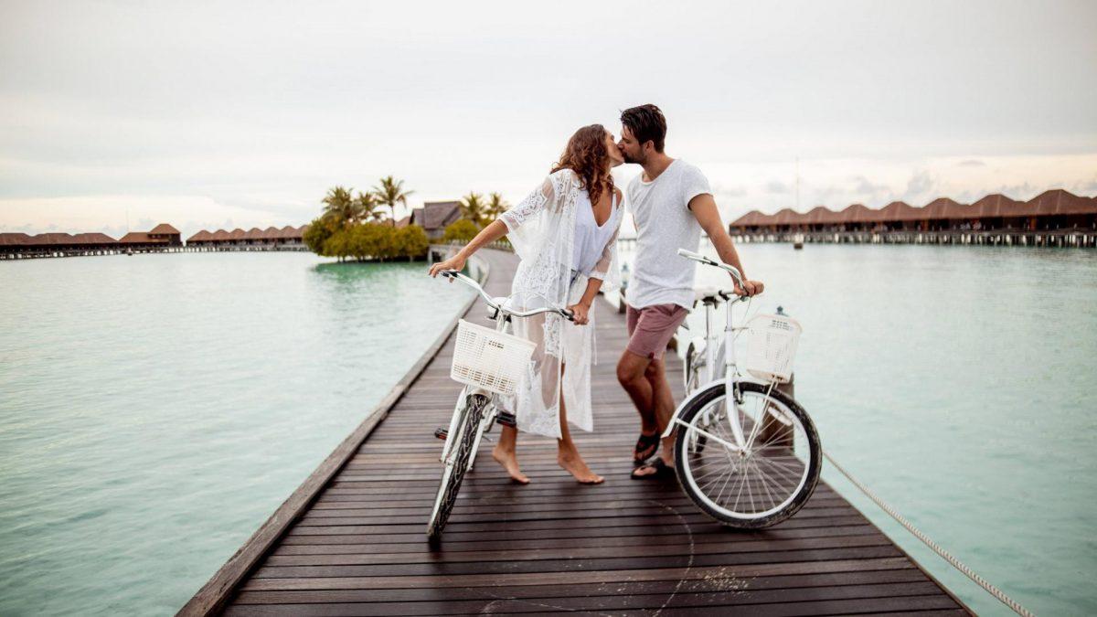 Paar, Urlaub, Steg, Meer, Romantik