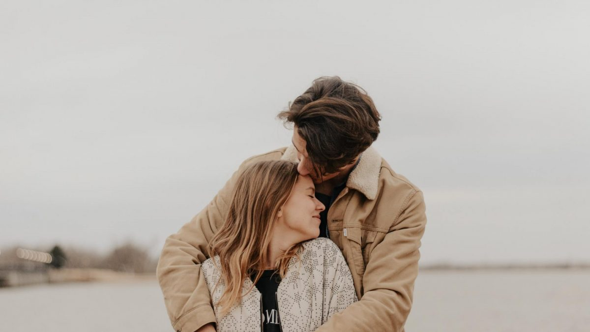 Paar glücklich, Liebe, Umarmung