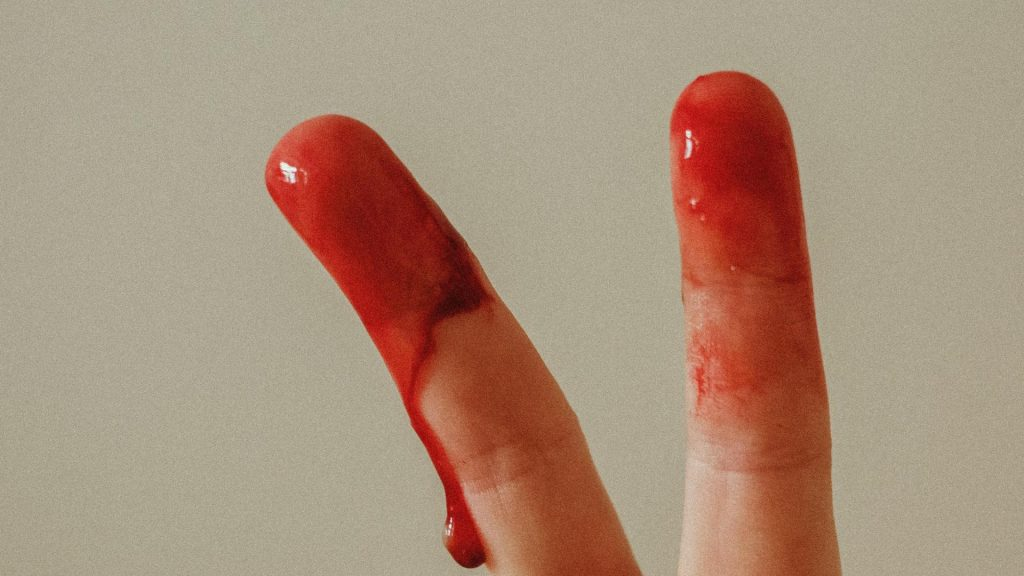 Periode Finger Blut