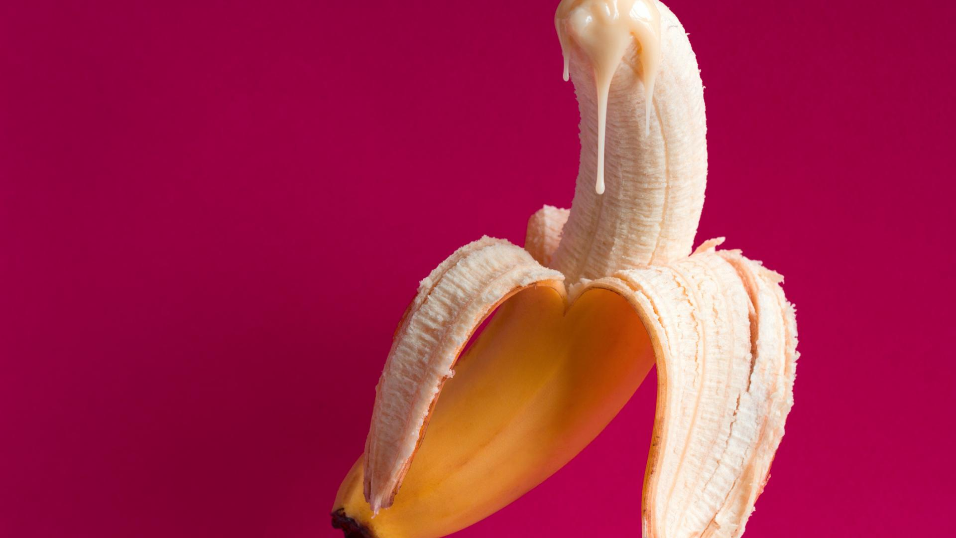 Sprühkondom Sperma Banane Sex