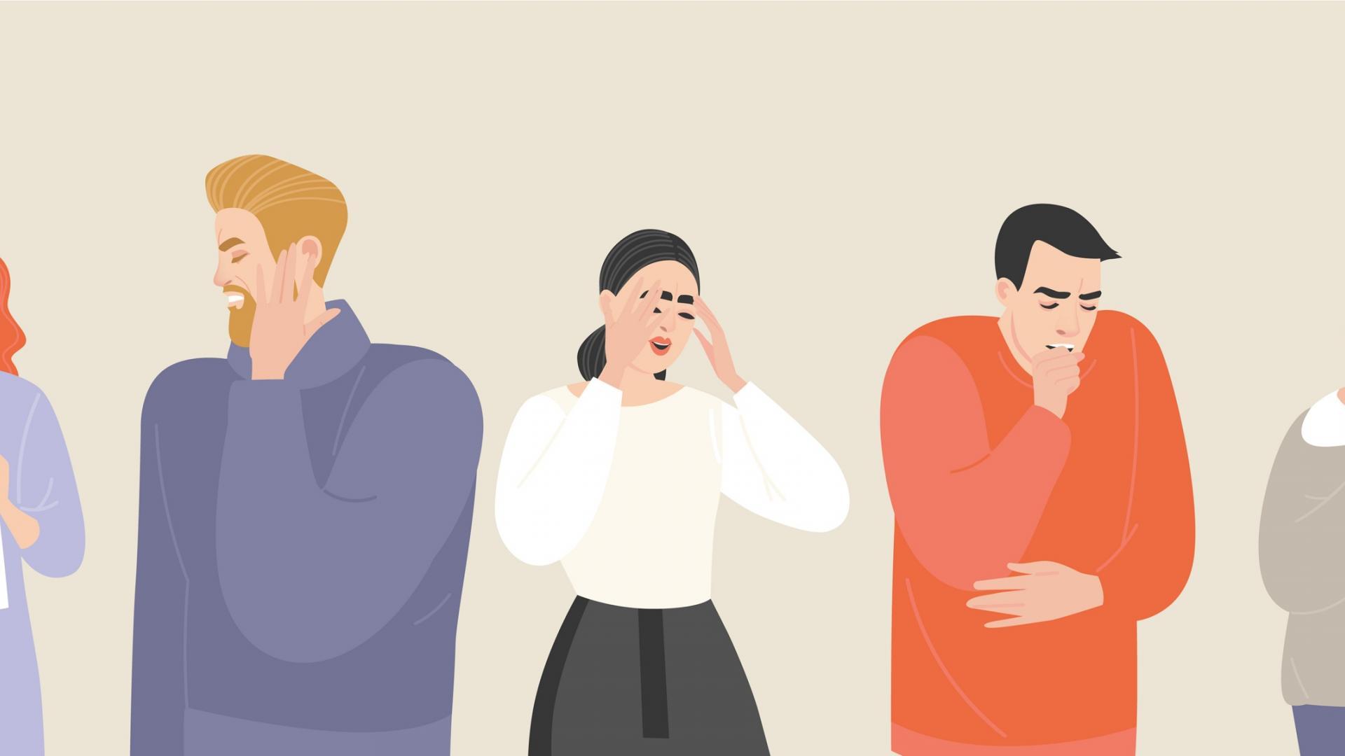 Symptome von Corona und Heuschnupfen