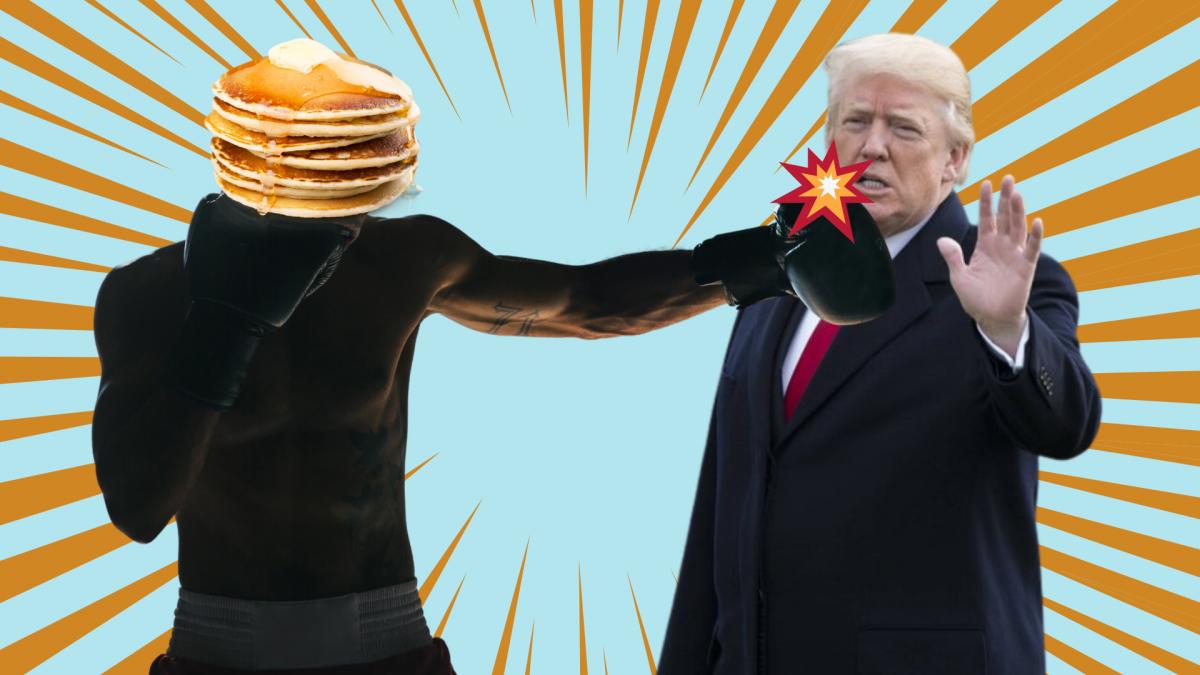 Trump tWitter Pfannkuchen hashtah  mapa
