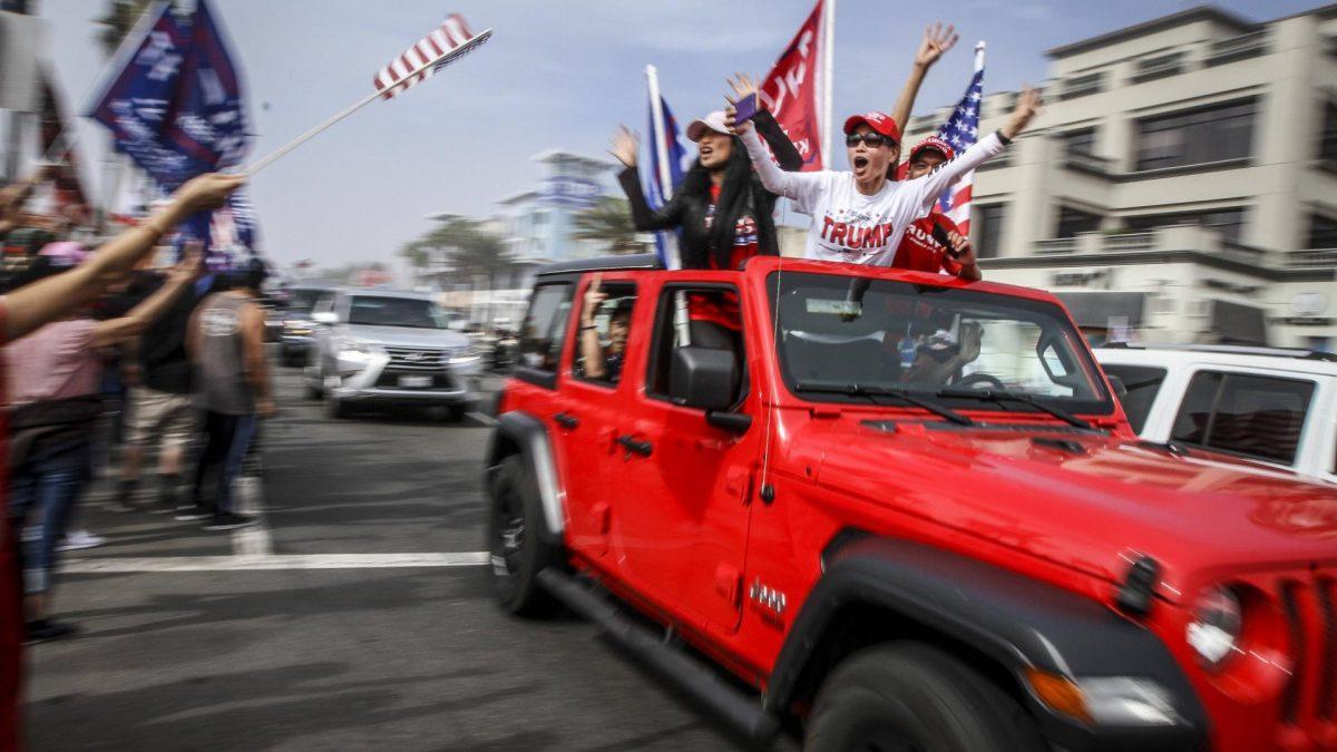 USA auto wahl trump donald fahne amerika