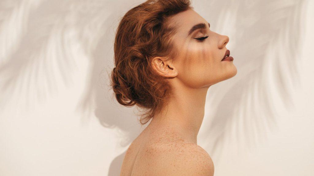 Venustraphobie, schöne Frau, Profil