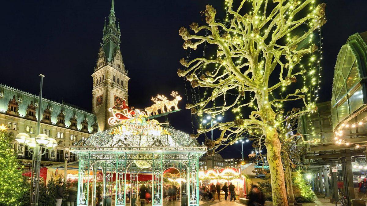 Weihnachten Weihnachtsbaum Rathaus Hamburg