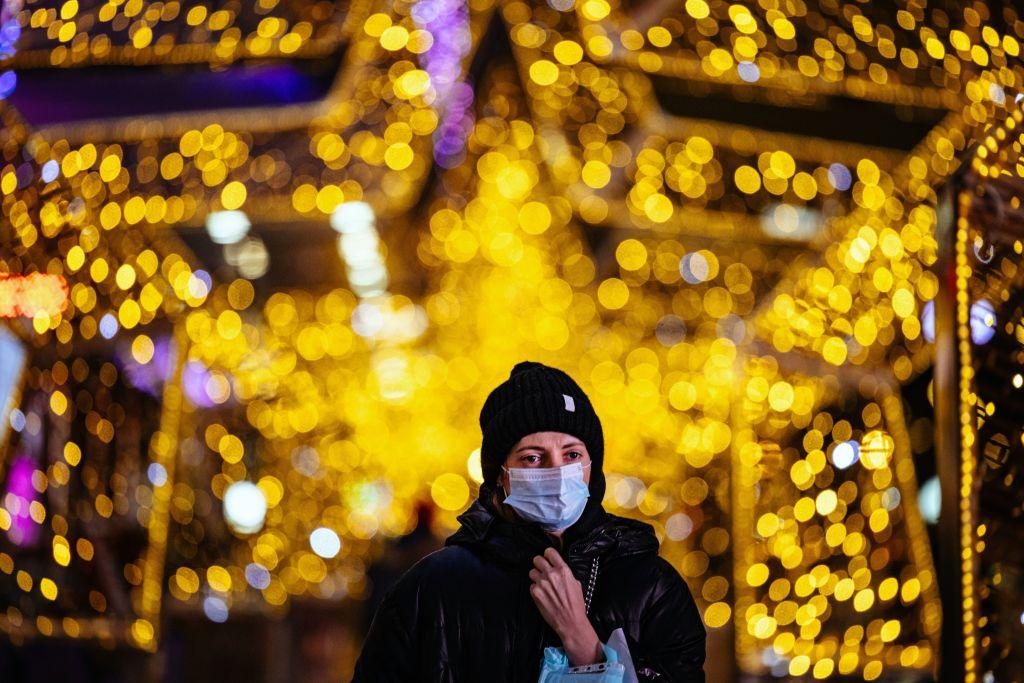 Weihnachten zuhause, Frau, Maske, Weihnachten