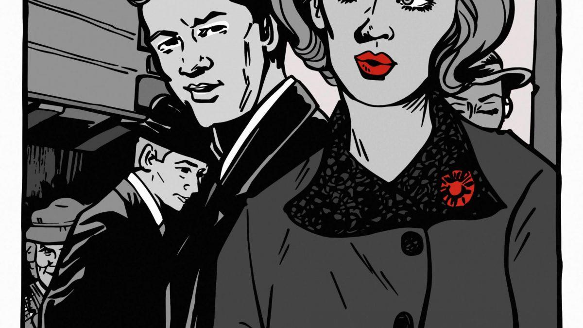 comic anmache clipart mann frau schwarz weiß rot vintage