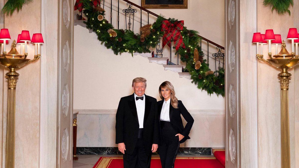 donald trump melania trump weihnachten