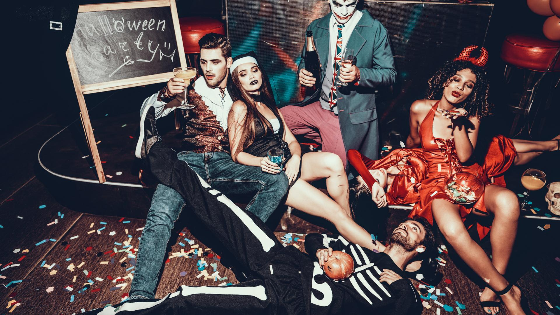 halloween party, alkohol