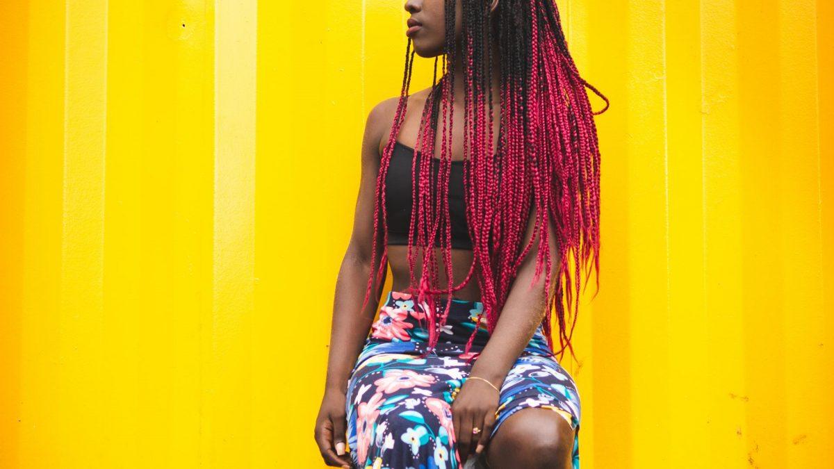 schwarze Frau, Portrait