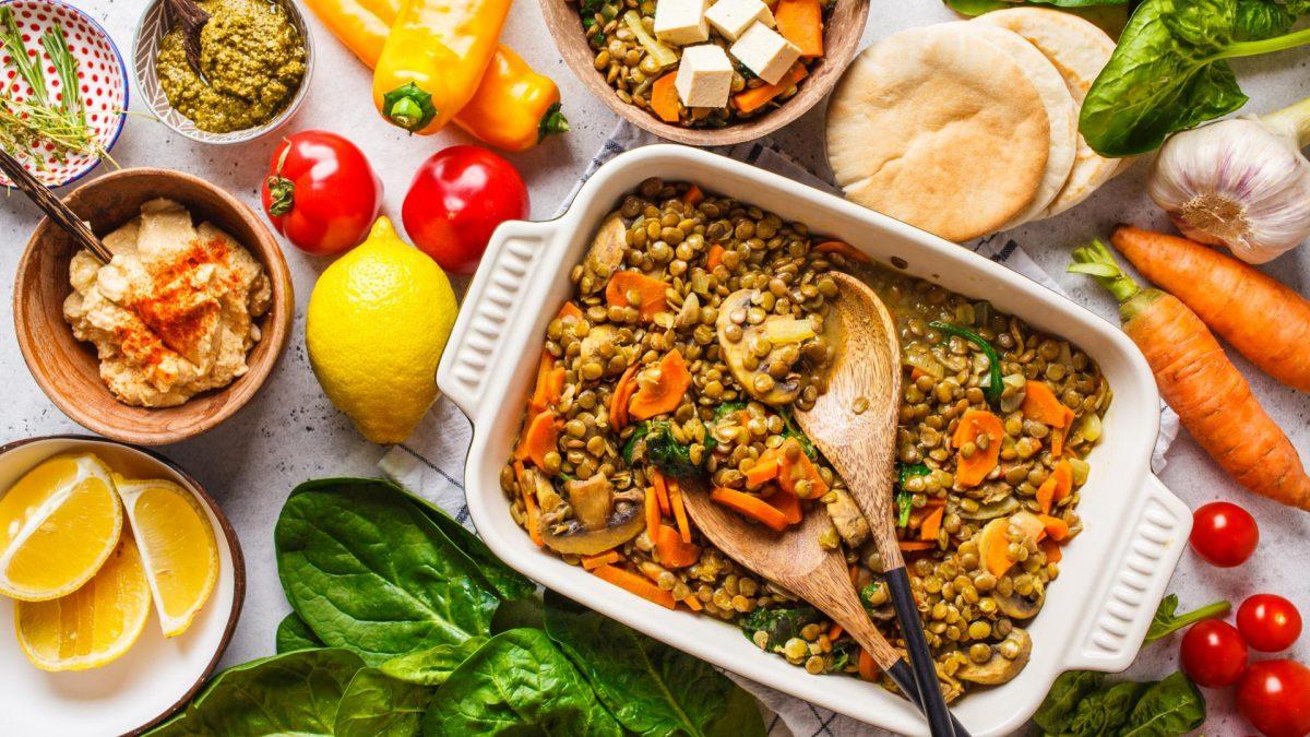 vegan comfort food linsen eintopf backofen auflauf
