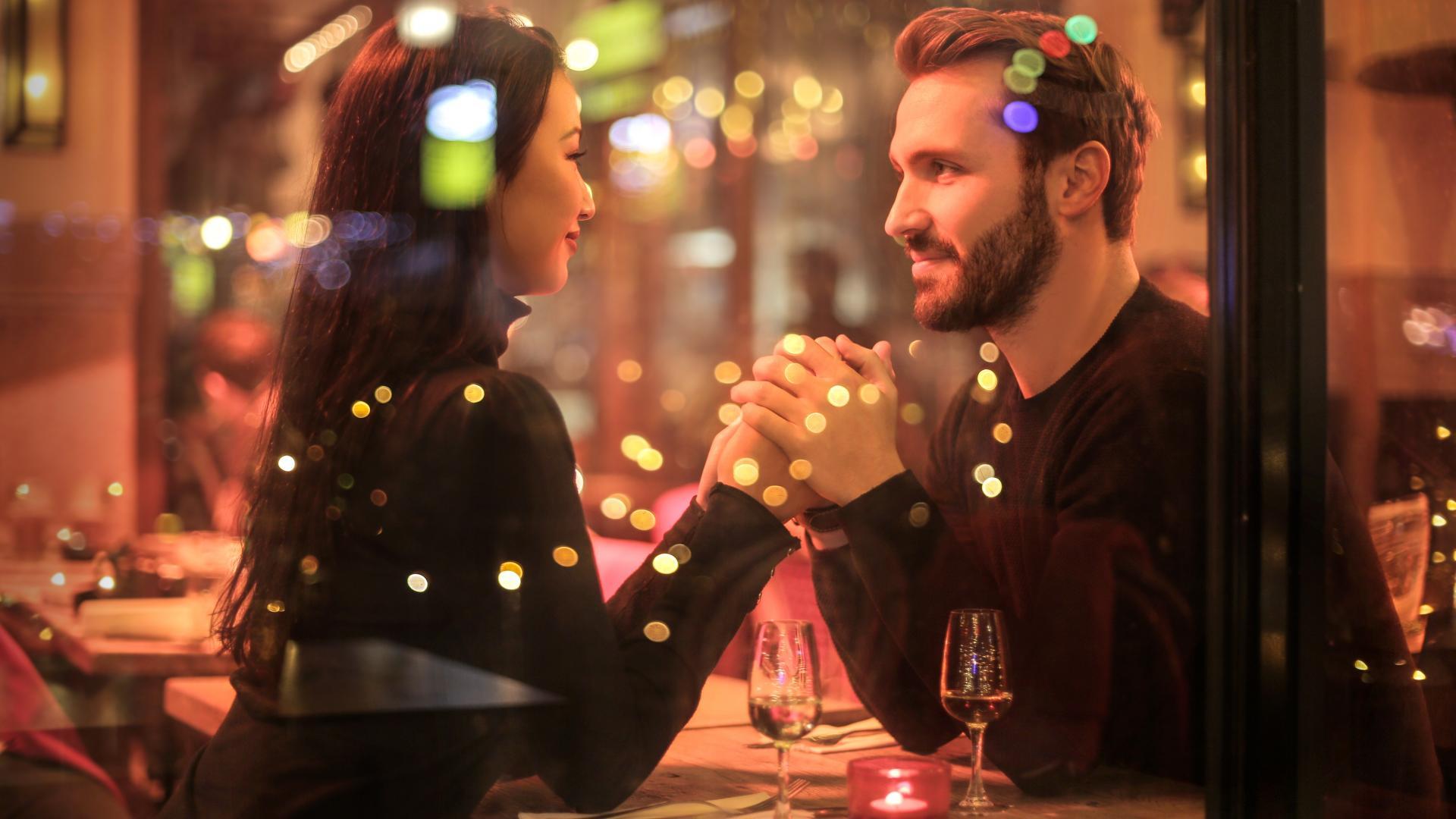 Frau und Mann Date