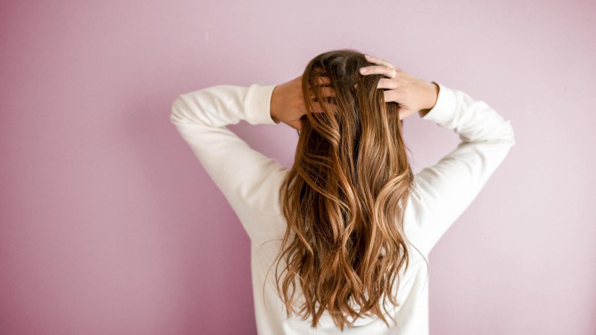 Haare von hinten