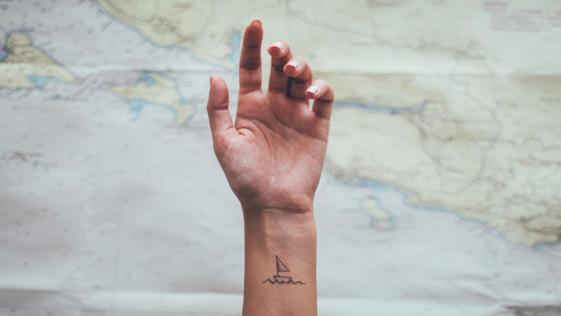 Segelboot Tattoo
