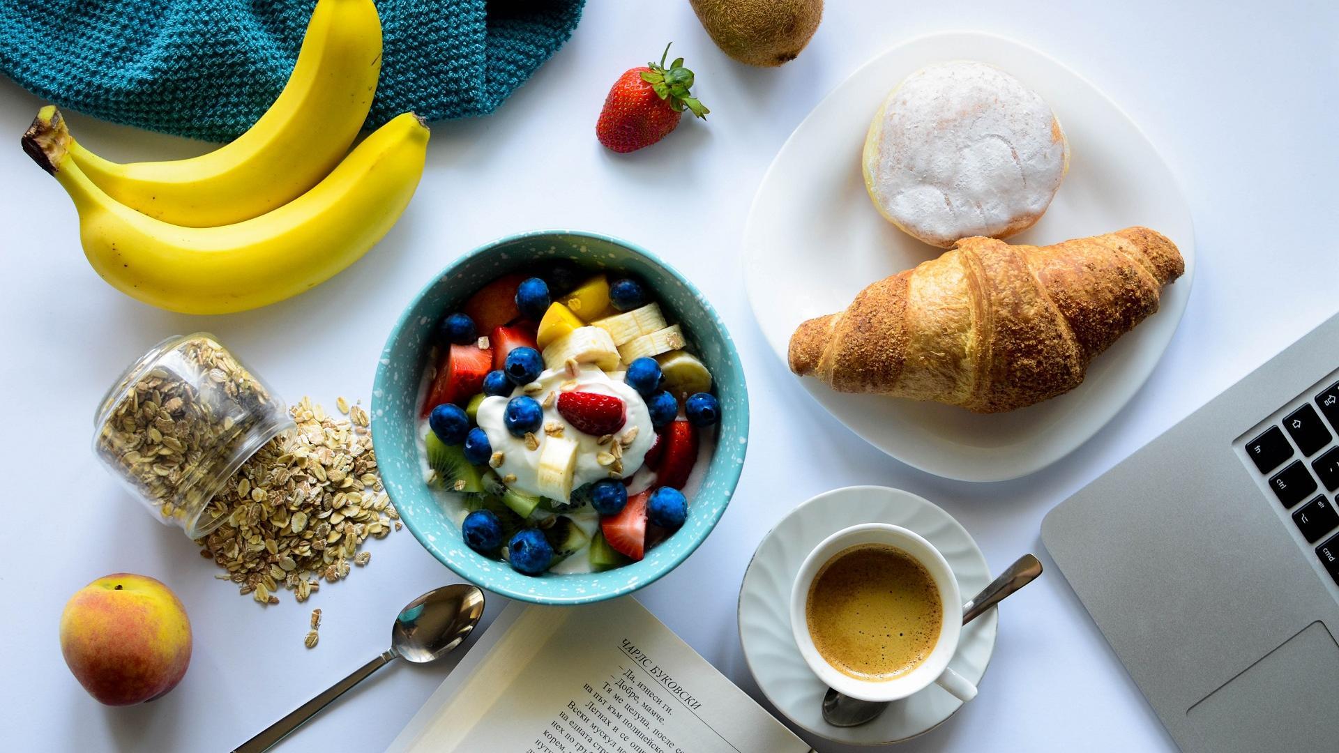 Frühstück am Arbeitsplatz
