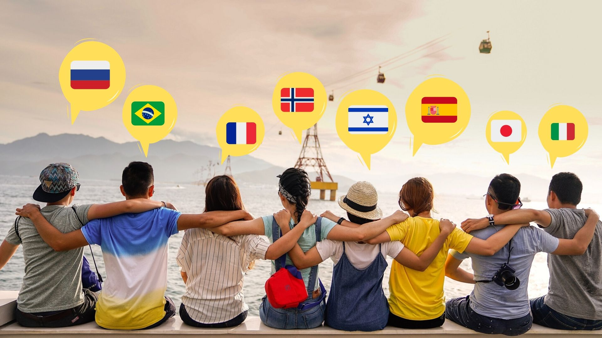Freunde mit verschiedenen Sprachen