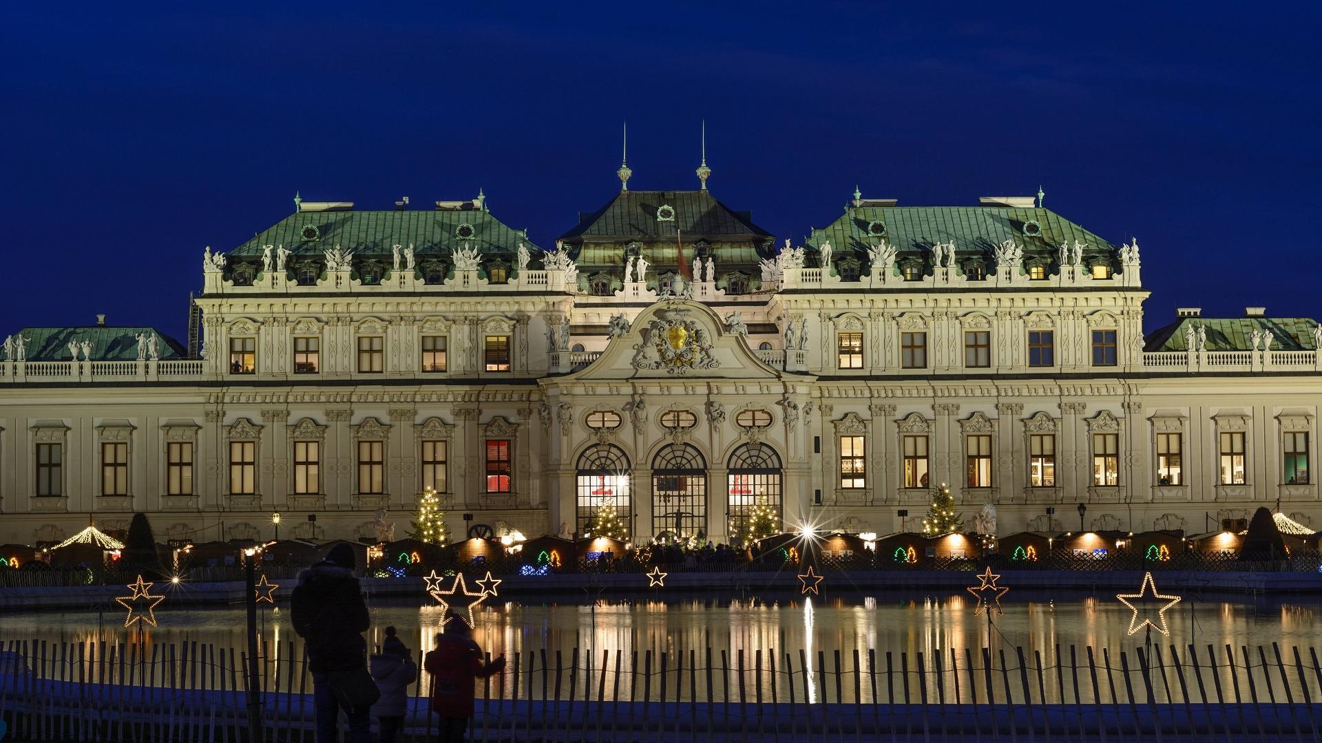 Der Weihnachtsmarkt am Schloss Belvedere