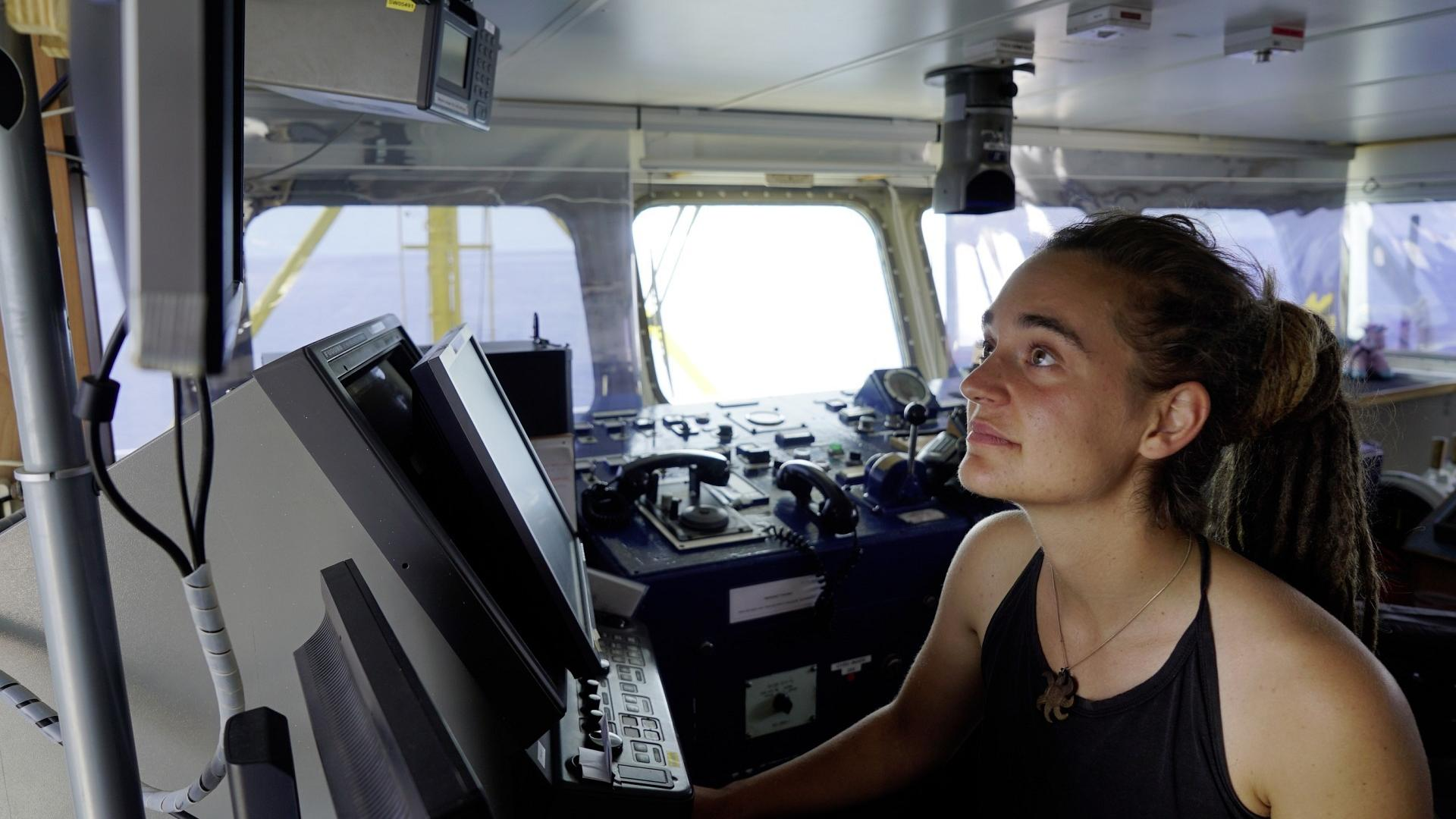 Carola Rackete an Board der Sea Watch 3