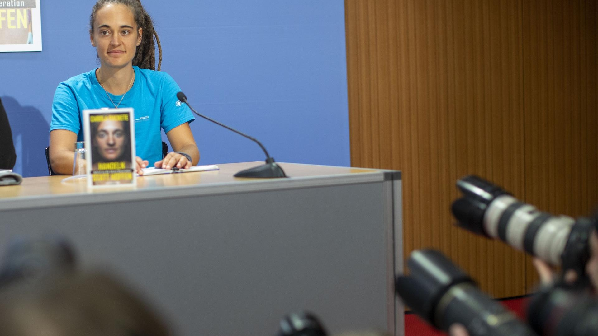 Carola Rackete bei ihrer Buchvorstellung