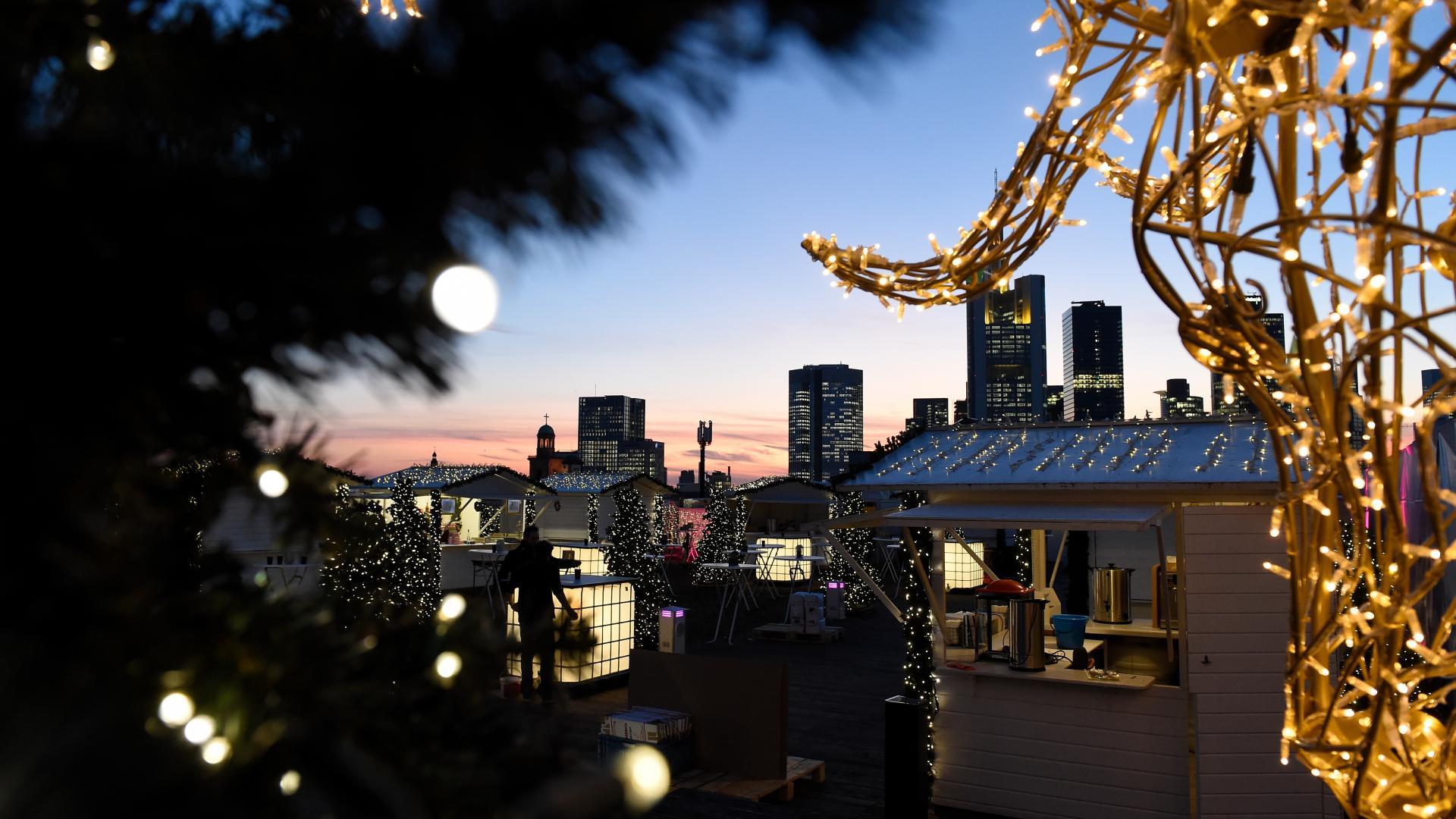 CityXmas auf den Dächern Frankfurts.