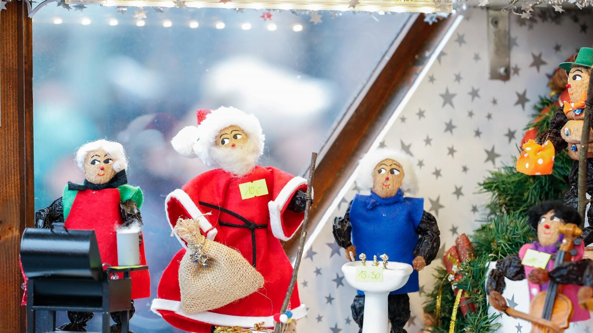 Zwetschkenmännle auf dem Nürnberger Weihnachtsmarkt