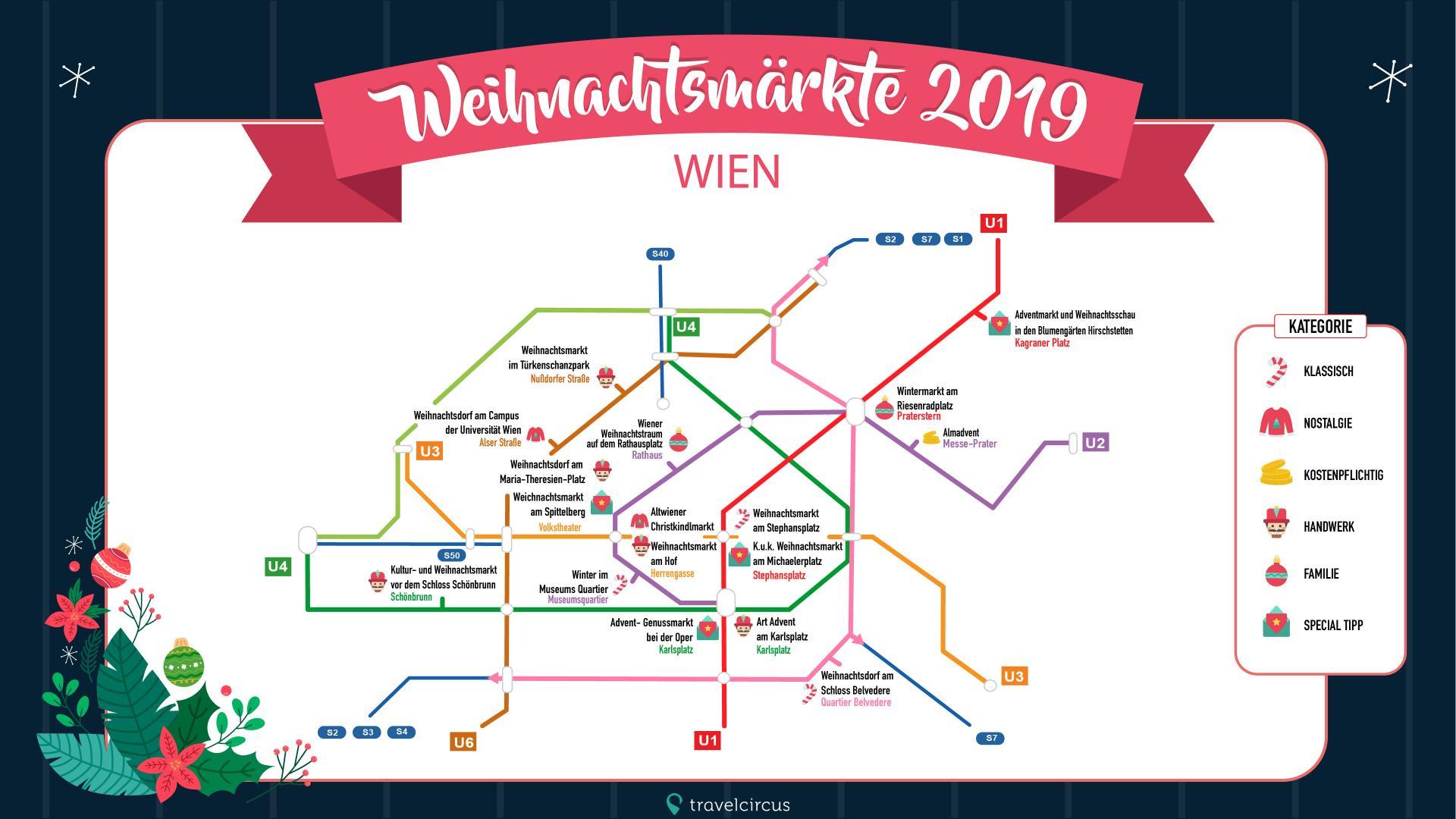 Wien Weihnachtsmärkte Fahrplan