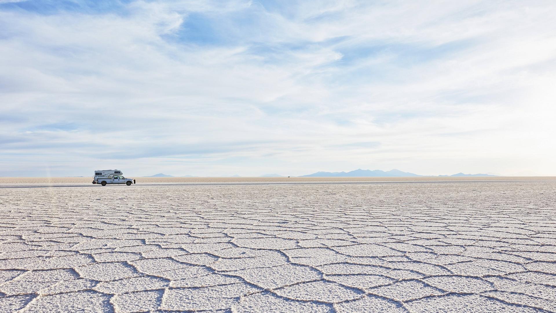 Salzwüste in Bolivien