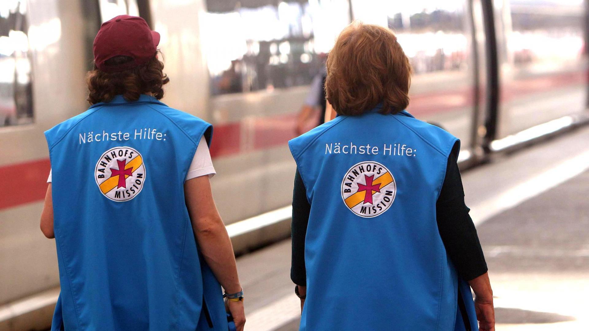 Mitarbeiterinnen der Bahnhofsmission