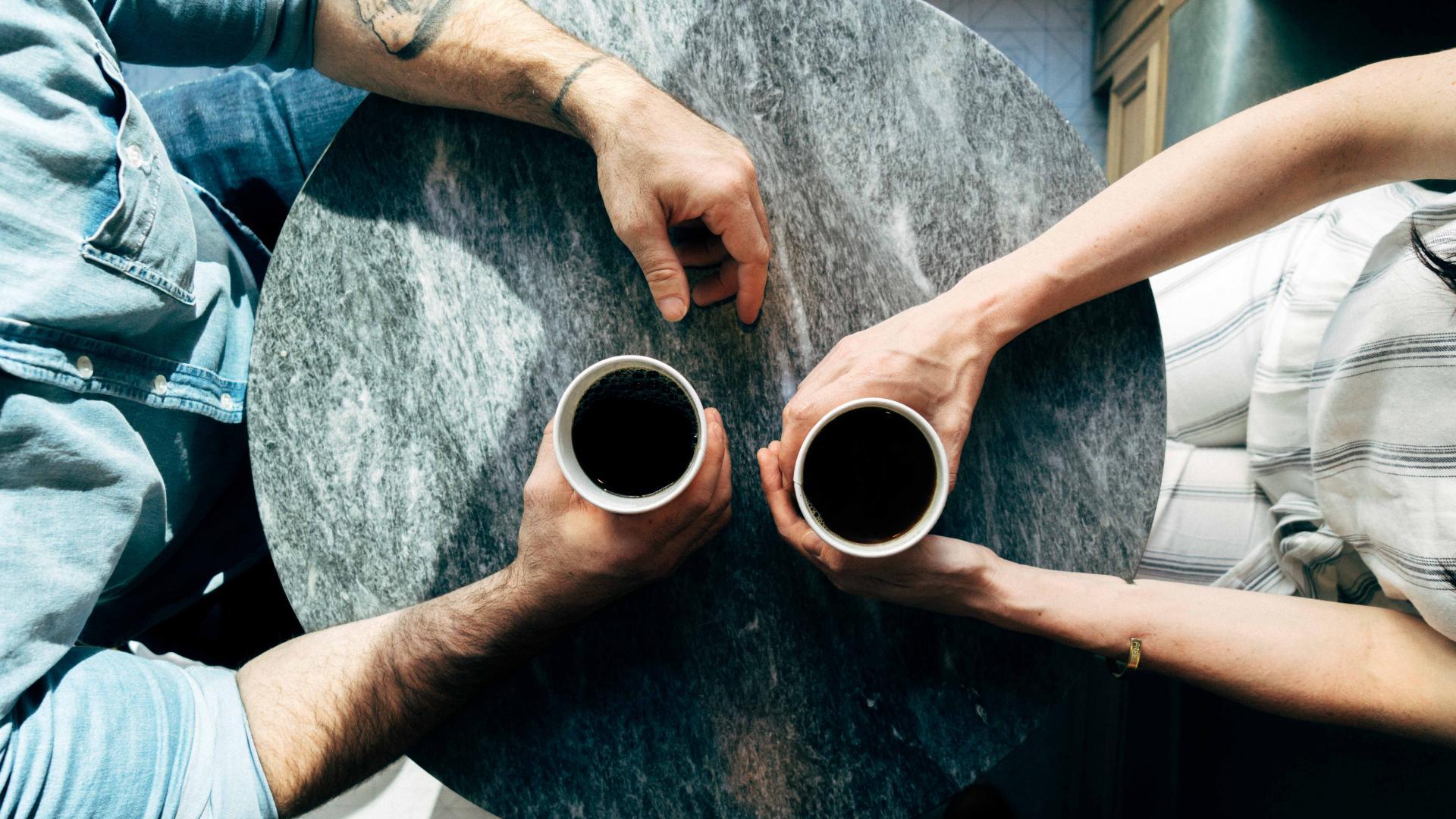 Paar Kaffee