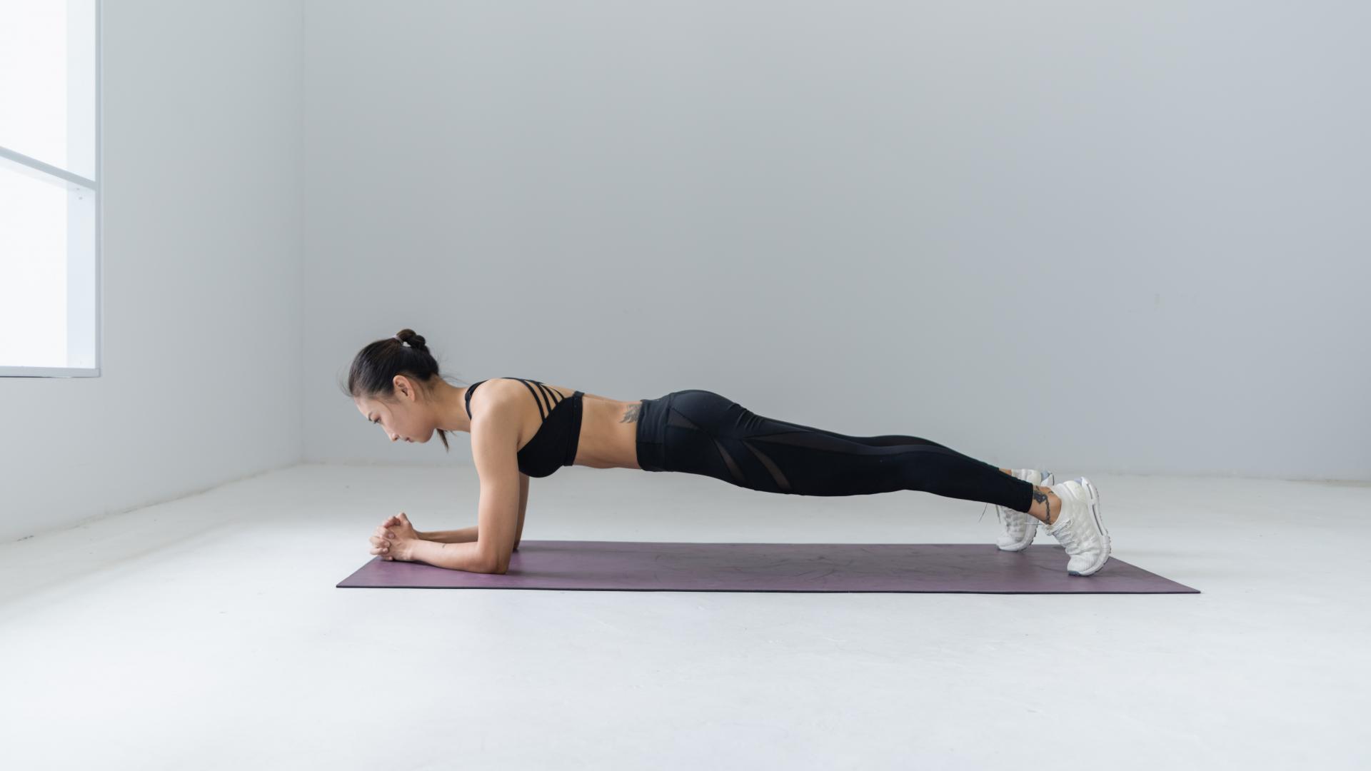 Plank Frau Sport Workout