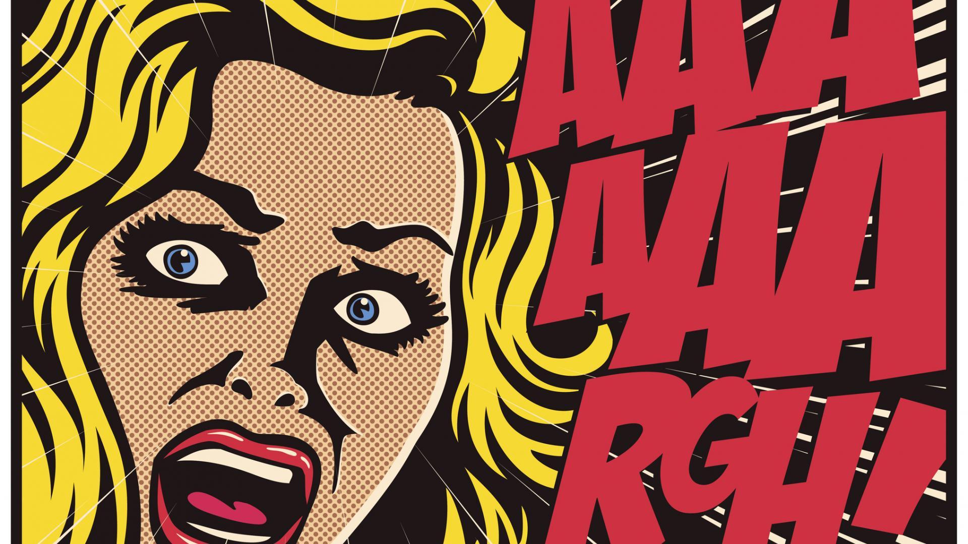 Frau Comic Angst