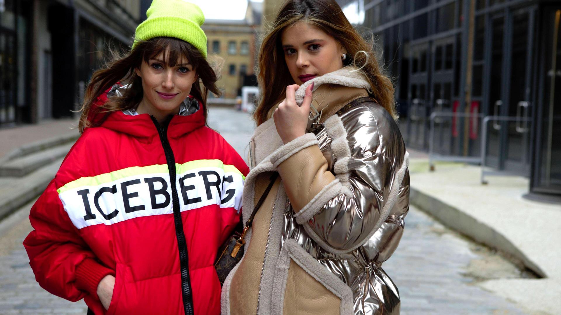 Frauen stylisch auf der Straße