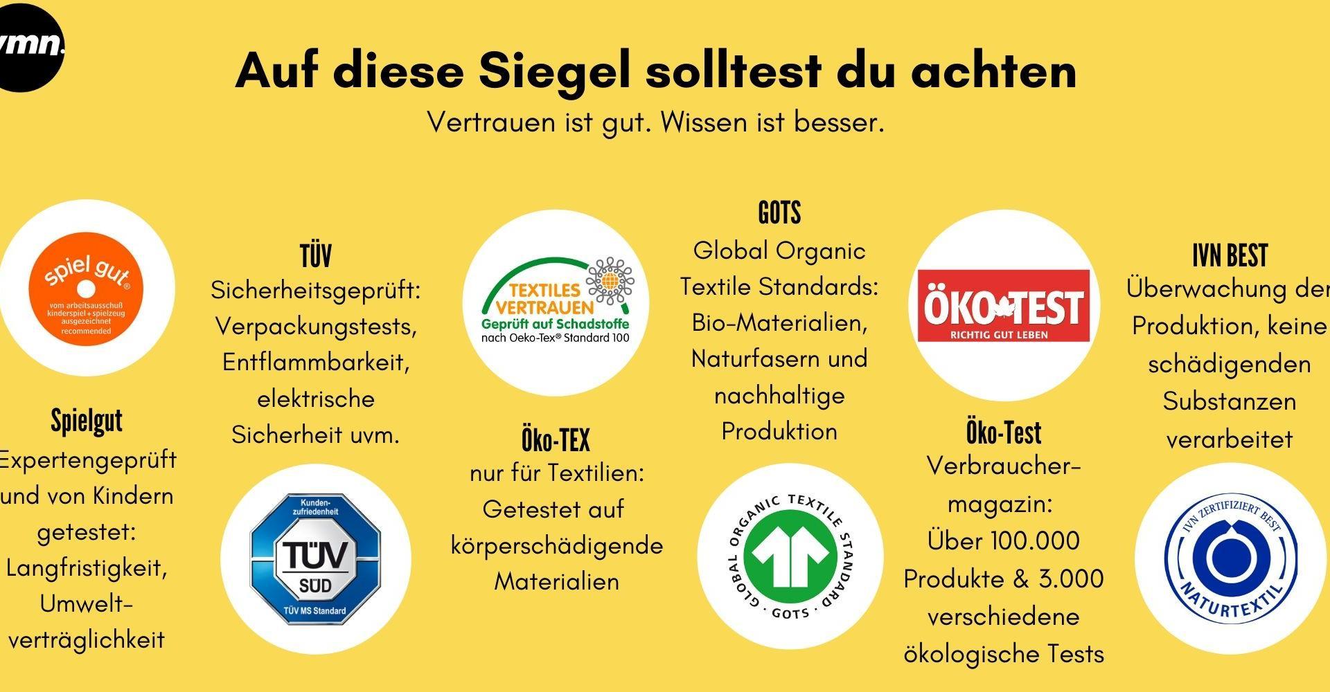 Öko-Spielzeug Zertifizierungen