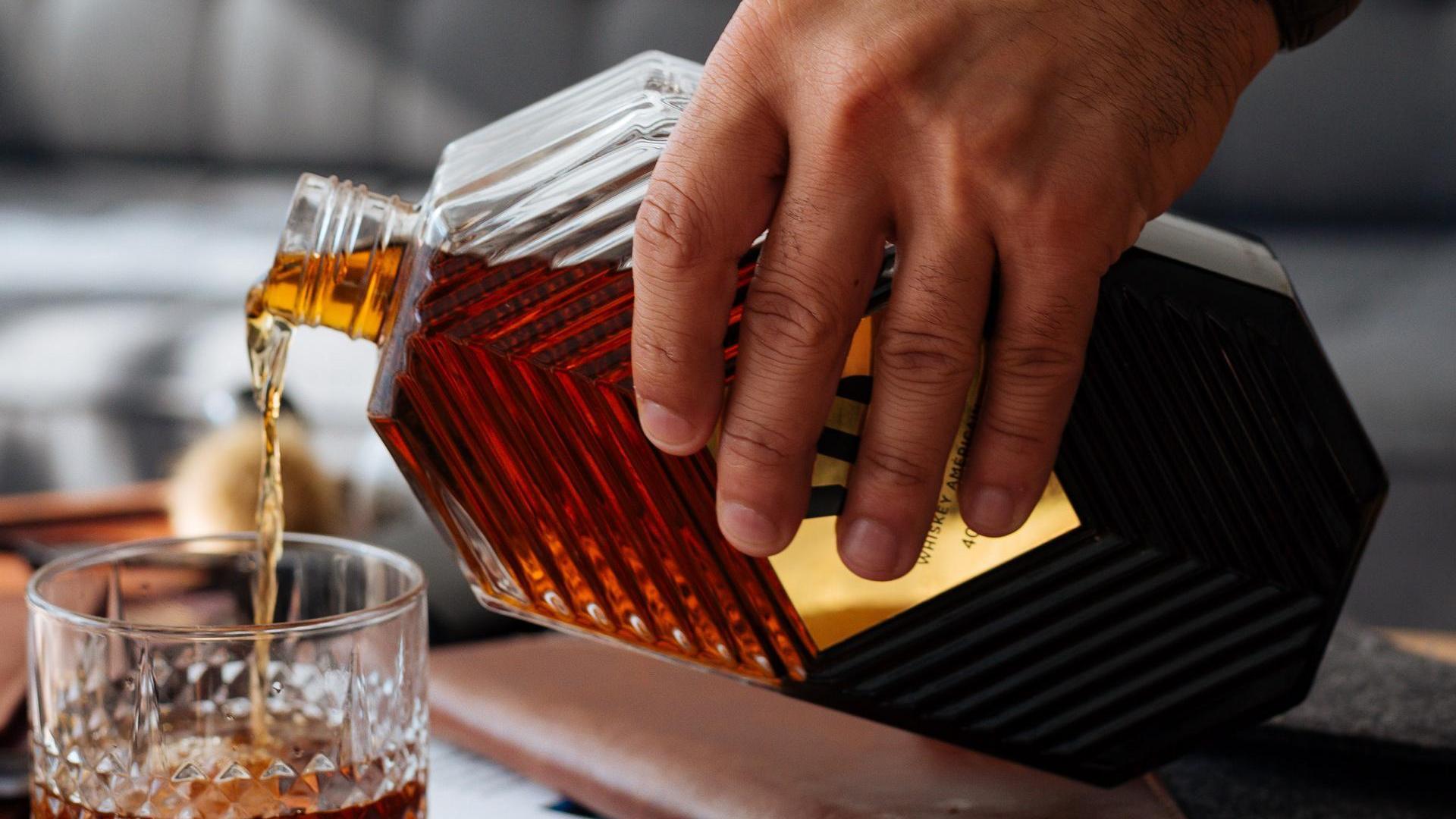 Whiskey Glas Flasche