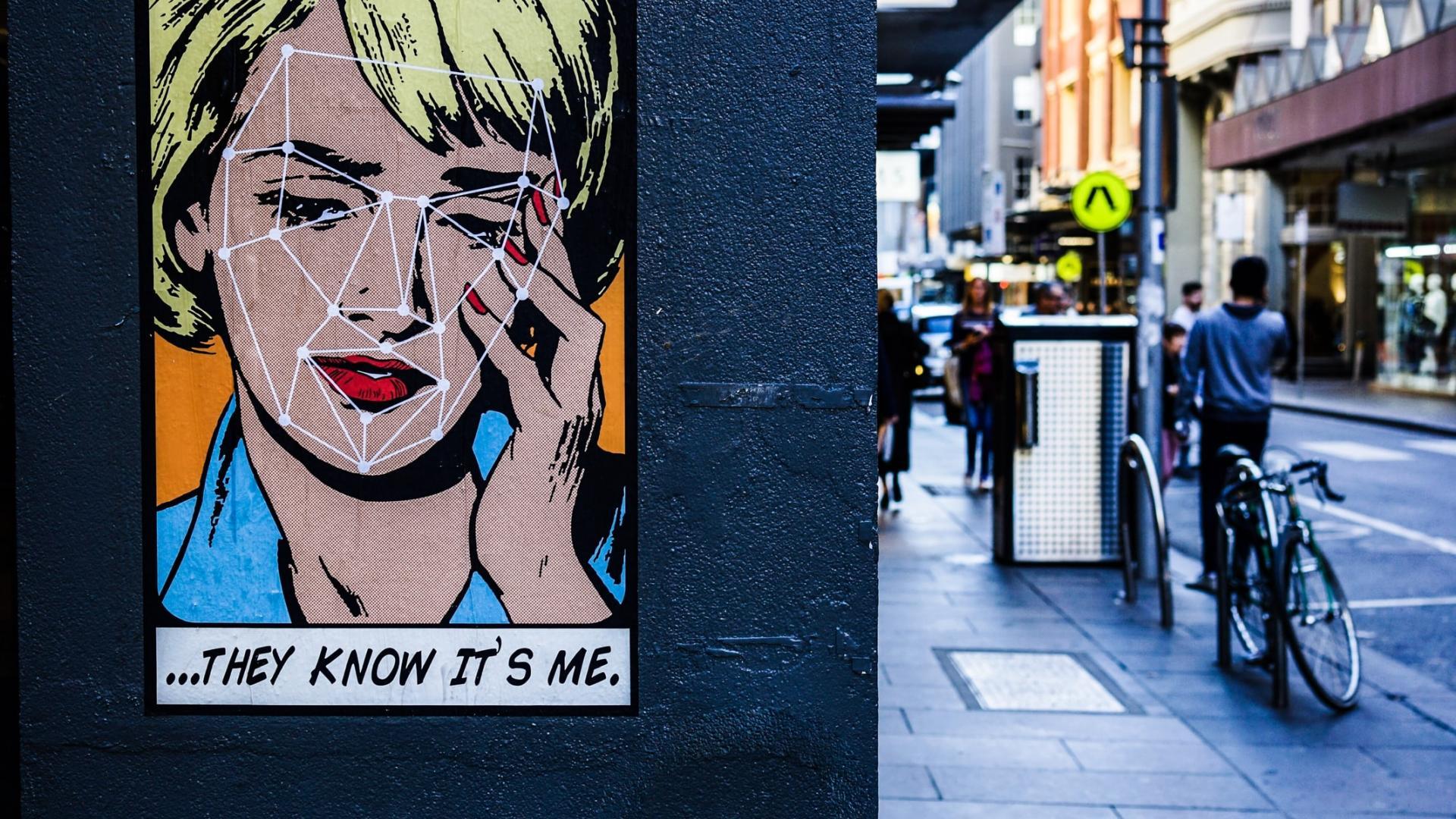 Plakat Frau Telefon Datenschutz