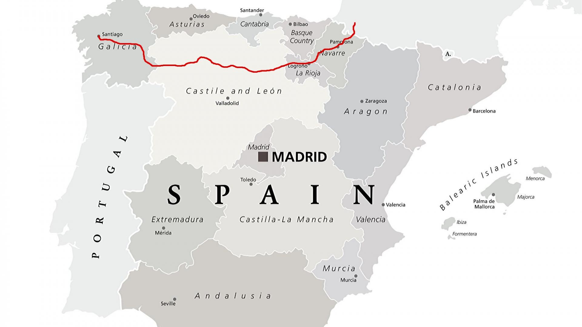 Landkarte: Camino Frnacés