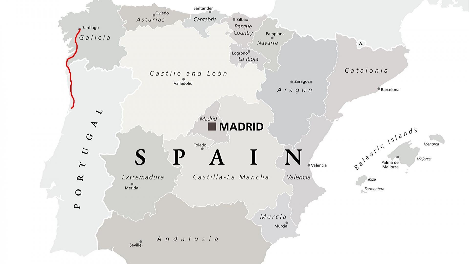 Landkarte: Camino del Norte