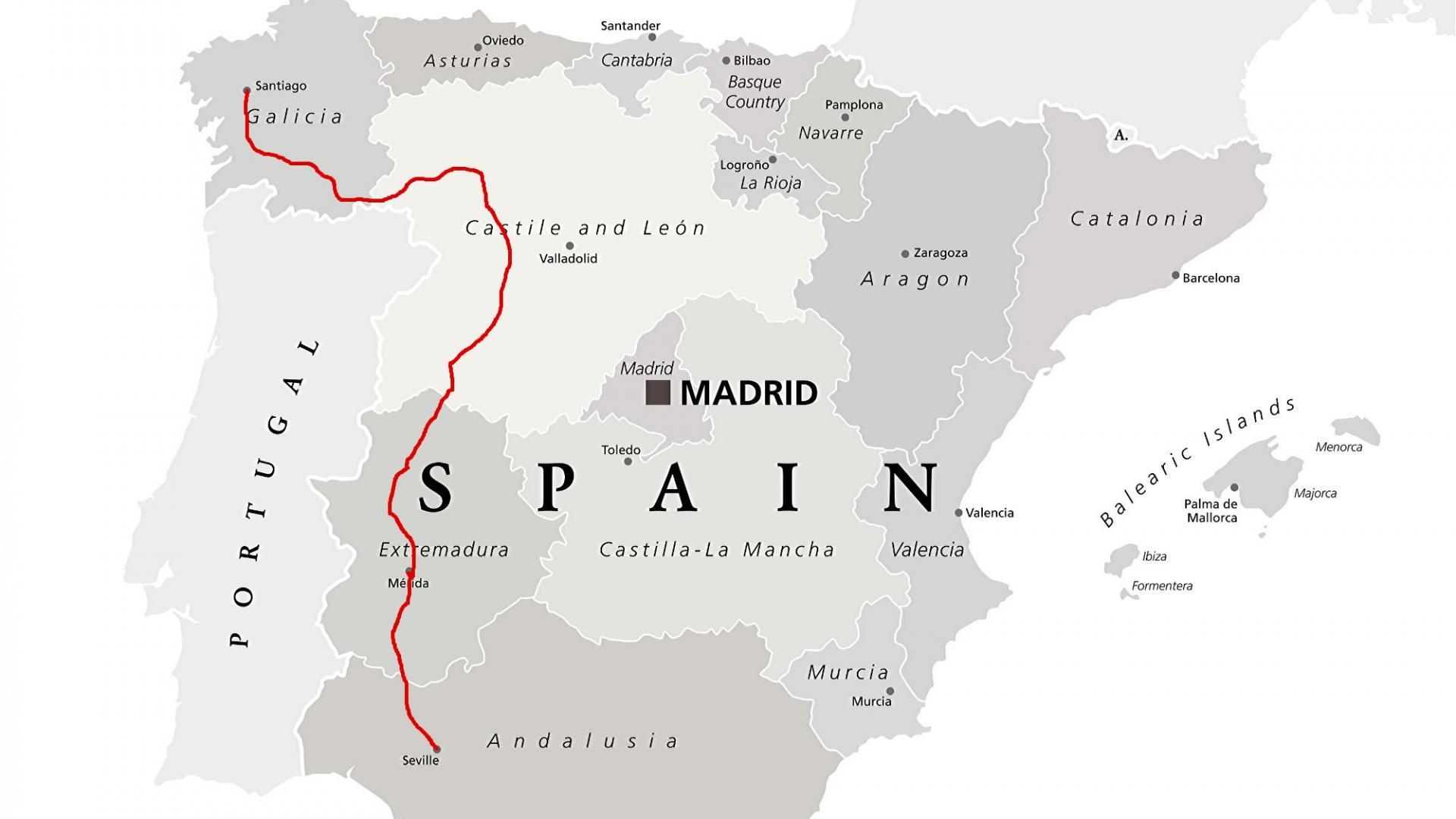 Landkarte: Via de la Plata