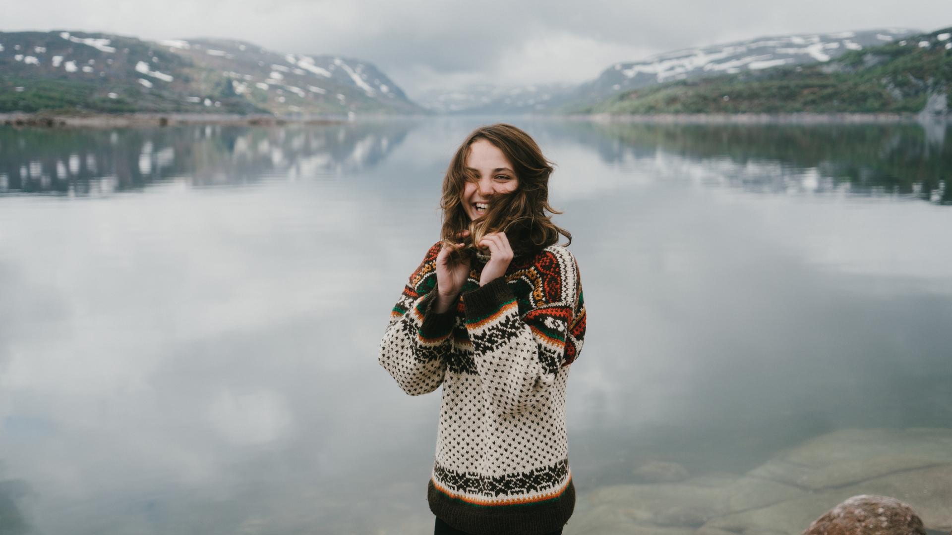 Frau in Norwegen