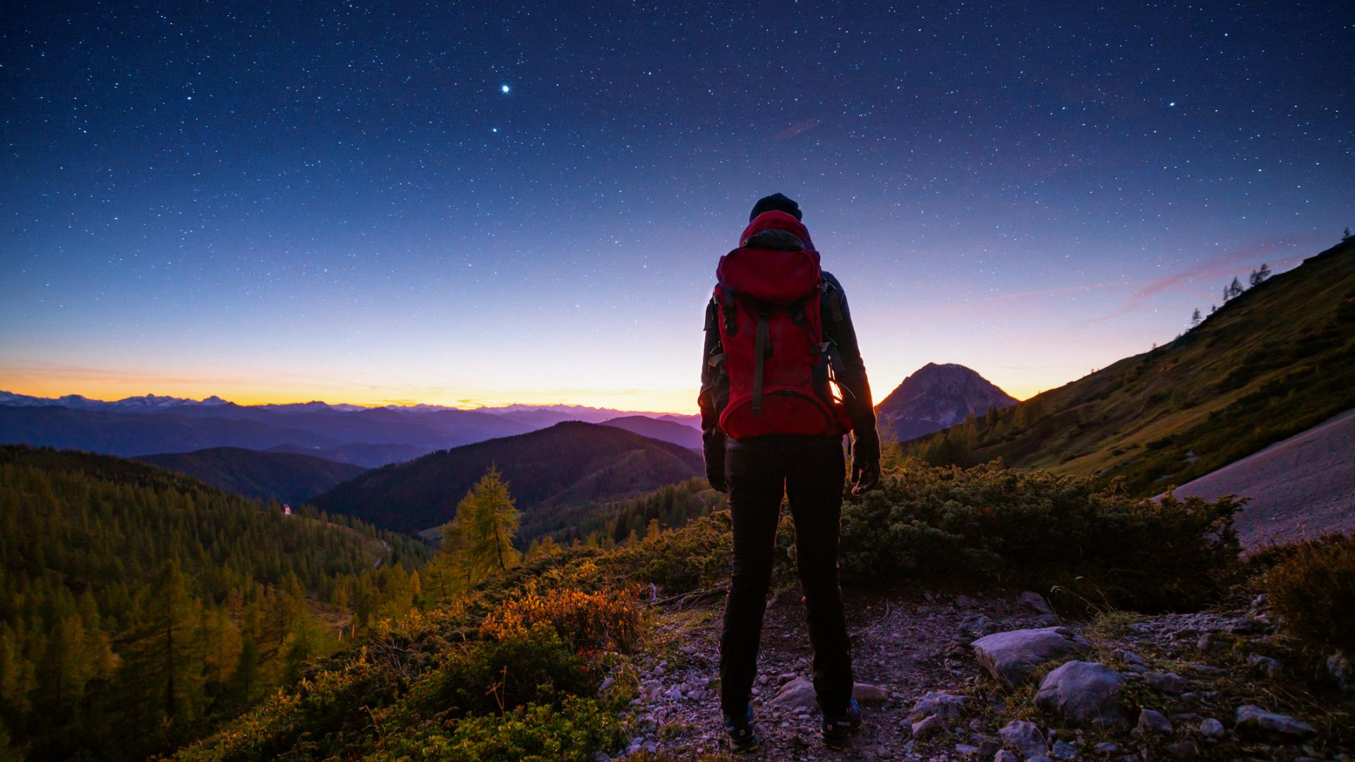 Nachtwanderung Natur Sterne Sonne