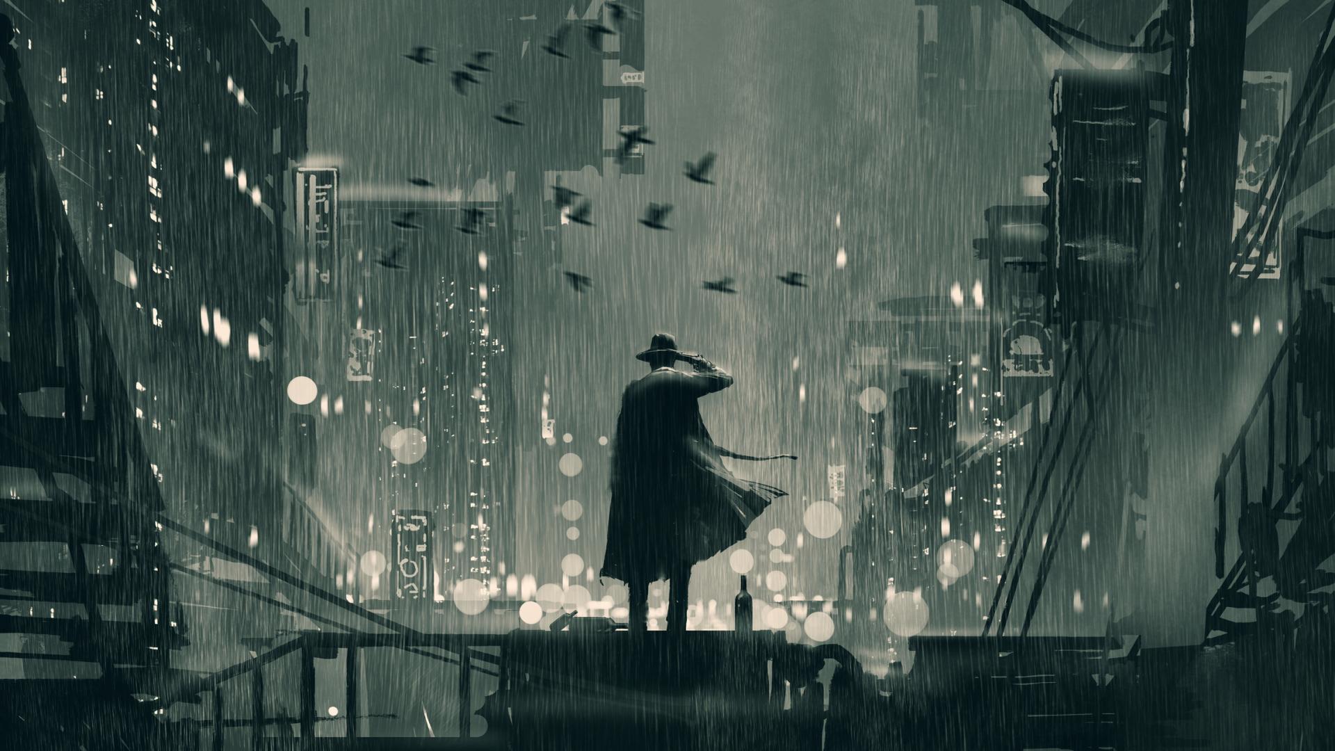 Detektiv in einer grauen Stadt, Grafik