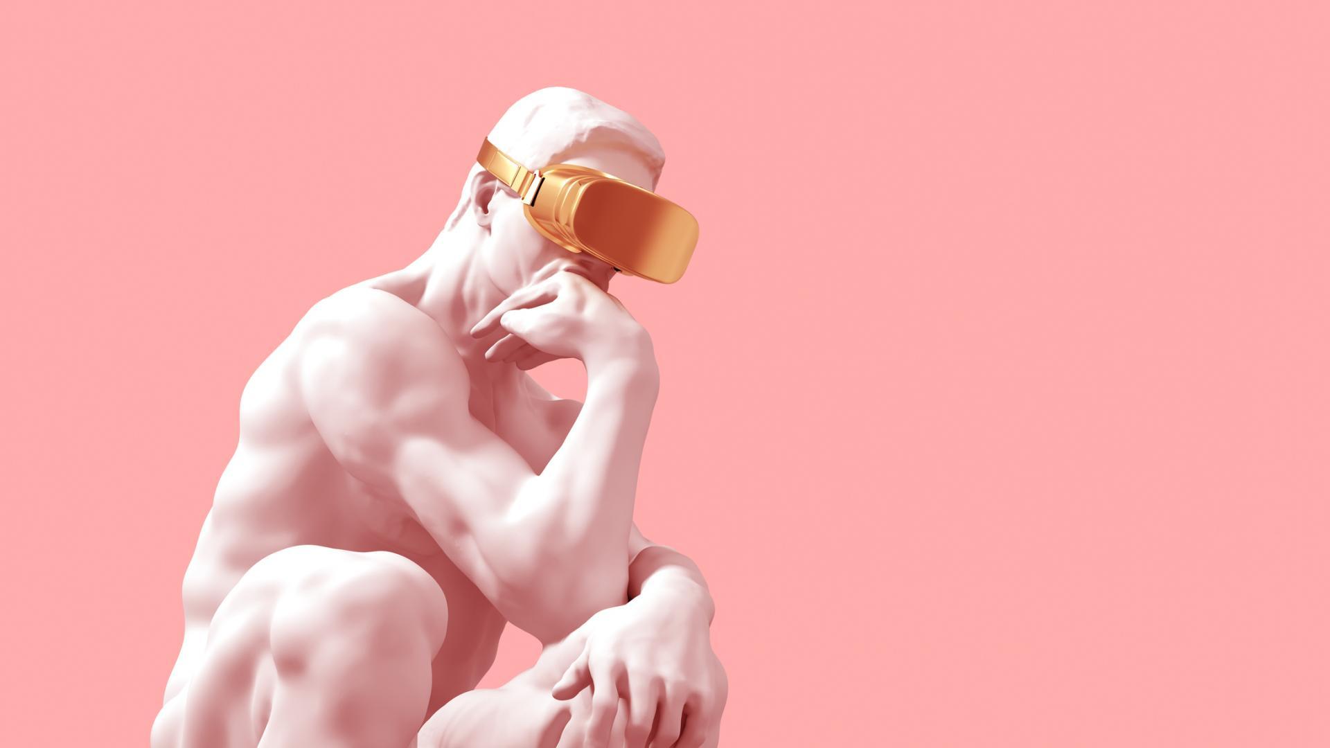 Statue Virtuell Reality