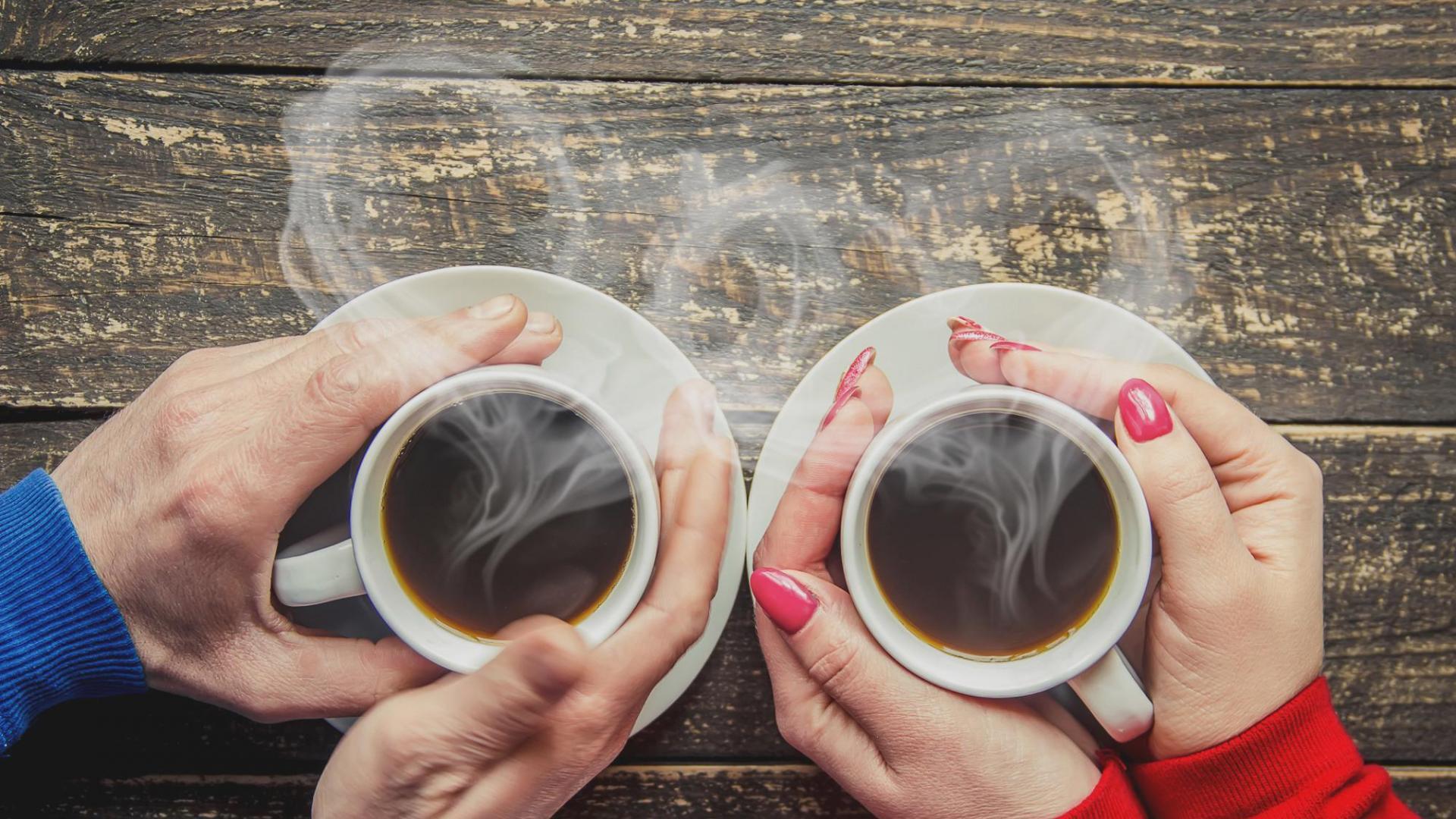Tassen Kaffee Mann Frau