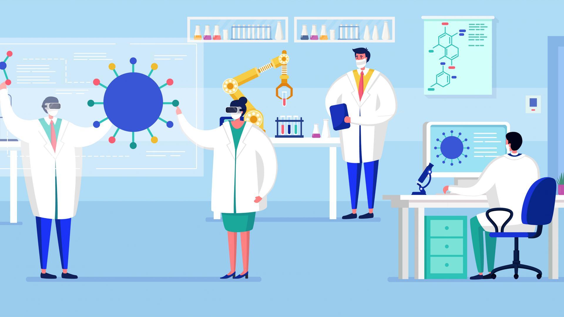 Corona Test Labor Ambulanz Wissenschaftler Medizin
