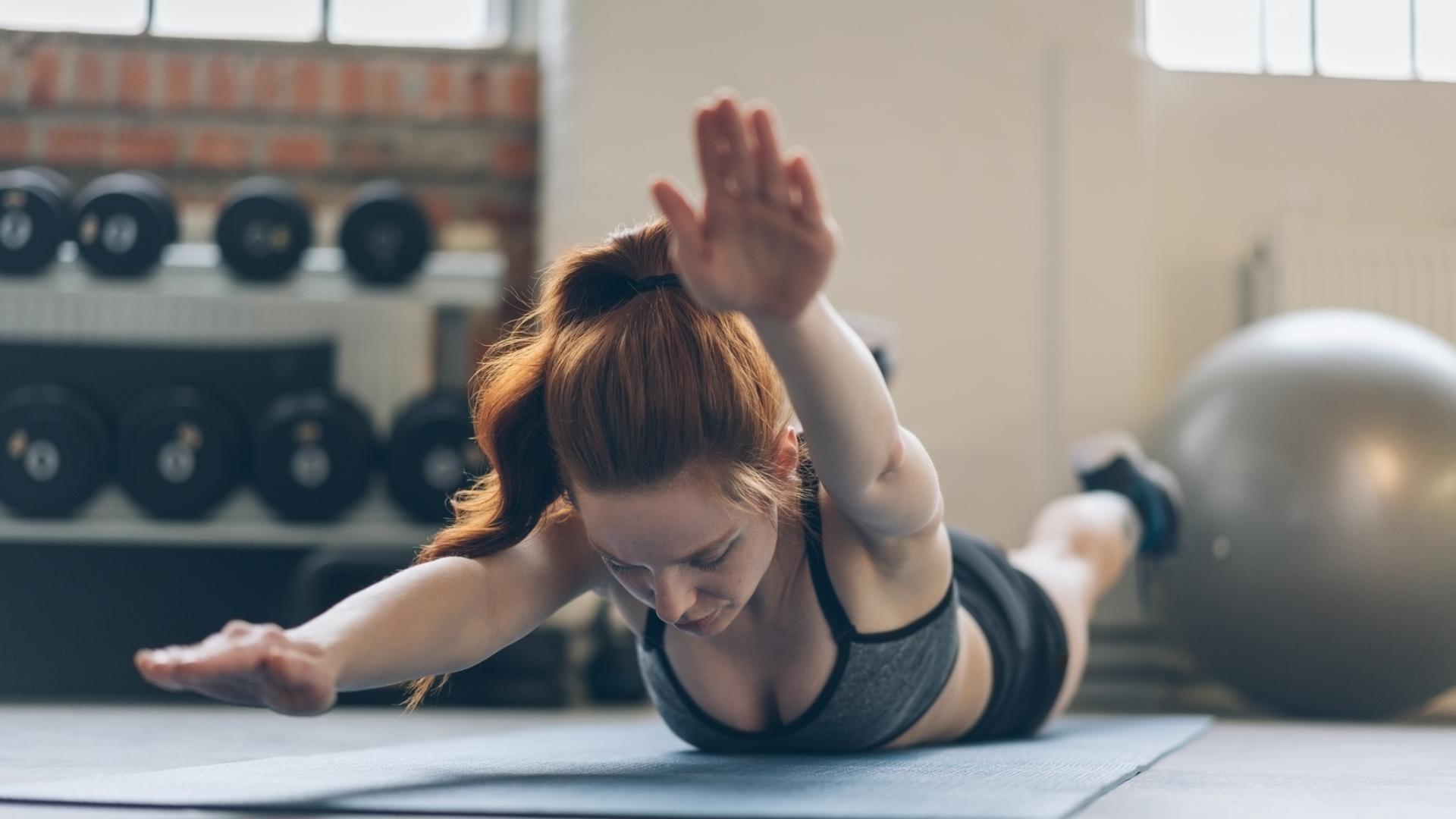 Frau swimmer Übung Sport Rücken Workout